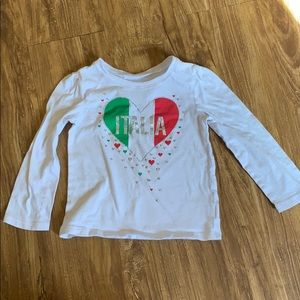 Children's Place Girl's Italia shirt